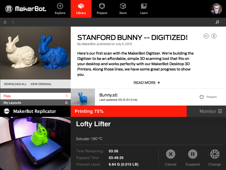 Slicing MakerBot Desktop