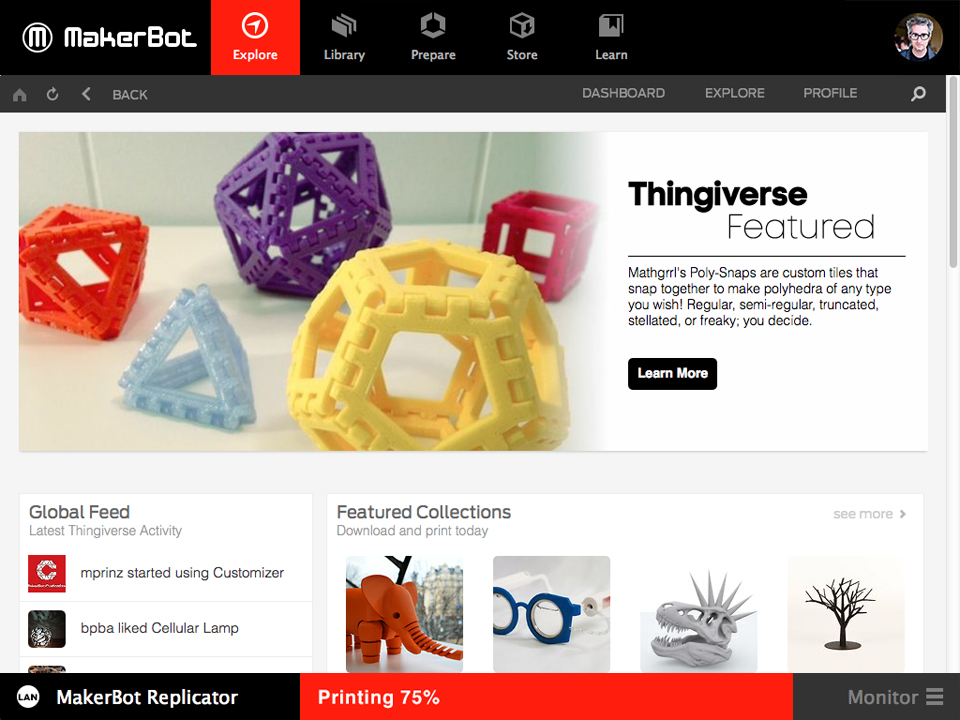 Slicing Software MakerBot Desktop