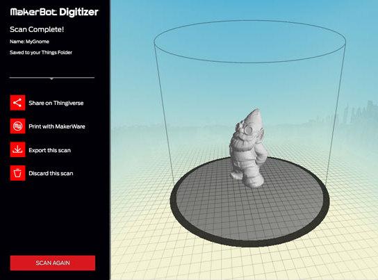 3D Scanner Software MakerBot Digitizer