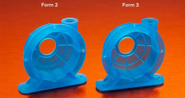 Vergleich zwischen Formlabs Form 2 und Form 3